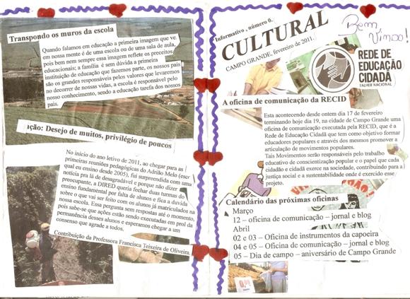 Capa do Zine - Informativo Cultural